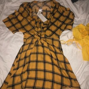 Yellow school girl dress